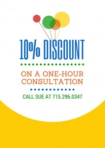 10 percent discount on a one-hour social media consultation