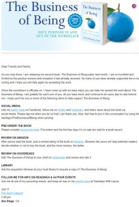Book launch email